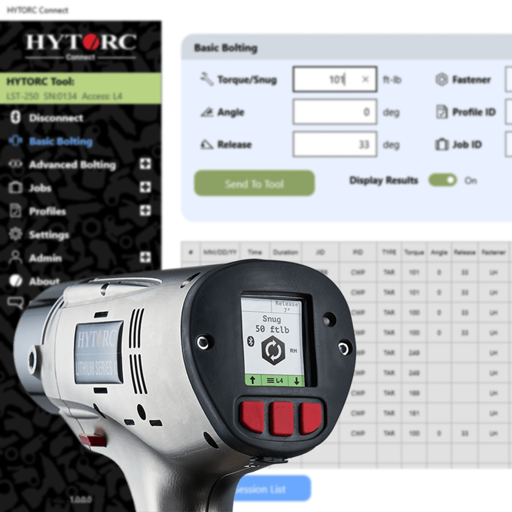 HYTORC-Connect-App-interface