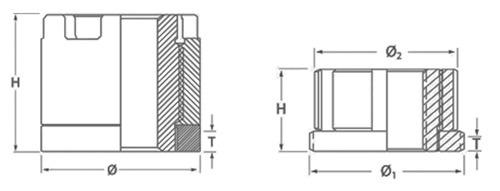 HYTORC Nut dimensions