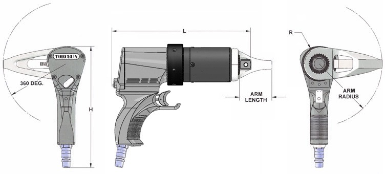 jGun Dual Speed dimensions