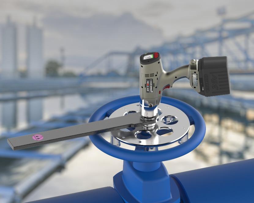 Afsluiter met HYTORC Lithium Series II elektrische momentsleutel